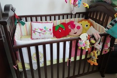 Selling: Brand new Baby cot never used with bedding set