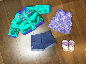 Selling: Luciana's space outfit American girl doll