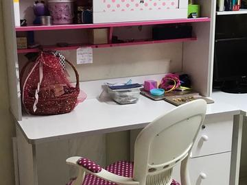 Selling: Children's study table (girl) with matching Chair
