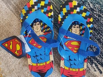 Selling: Boys Superman Flip Flops size 26 (for 3yr old)