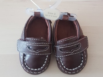 Selling: Baby boy Loafers 0-2 months (Brand New)