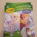 Selling: Frozen Crayola mini colouring pages & 4 markers