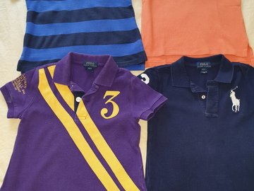 Selling: 4 POLO T-shirts Size 2