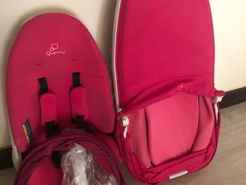 Selling: Quinny Pink Stroller (Bassinet and Chair)