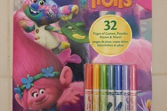 Selling: Trolls Crayola Games & Puzzles Coloring Book