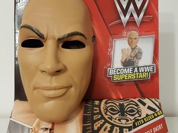 Selling: The Rock WWE Costume (mask & muscle shirt)